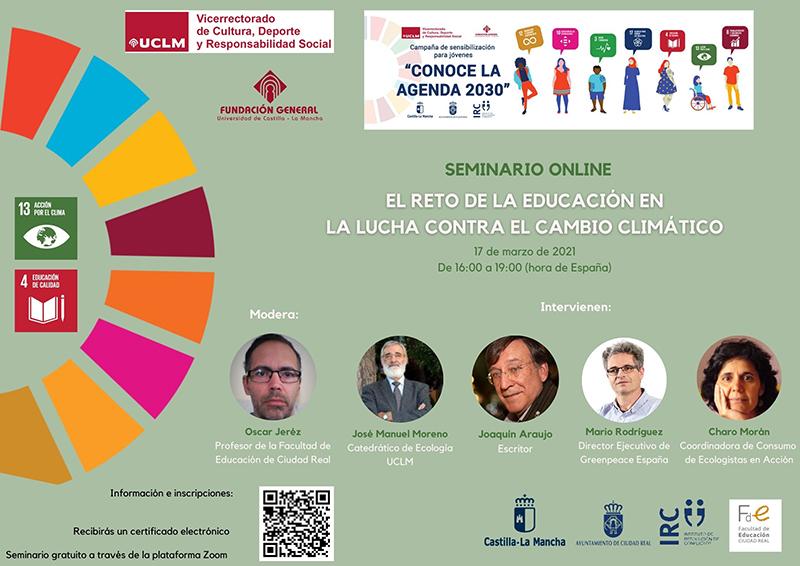 El naturalista Joaquín Araújo participará en el próximo seminario de la Fundación de la UCLM sobre cambio climático