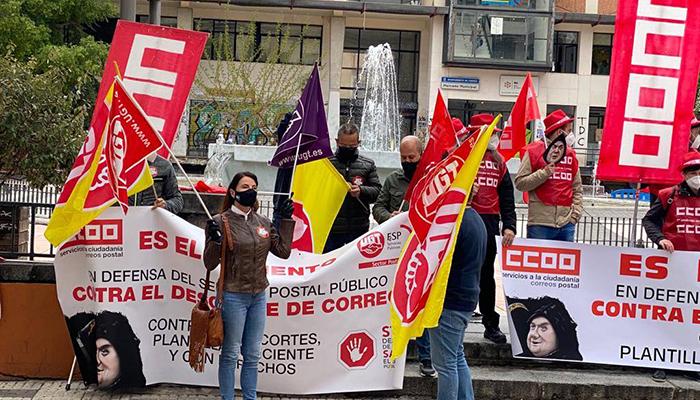 """Delegados y delegadas del sector postal de UGT y CCOO en Cuenca """"Están aprovechando miserablemente la pandemia para acelerar el desguace de Correos"""""""