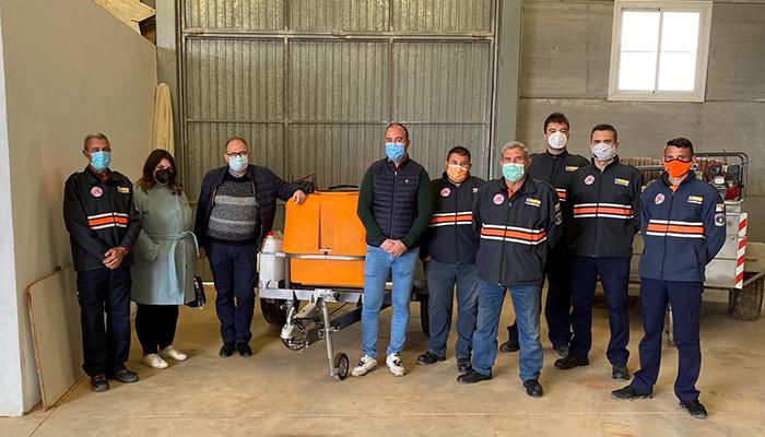 El Gobierno regional dota a la Agrupación de Protección Civil de Casasimarro con un carro con depósito de agua para extinción de incendios