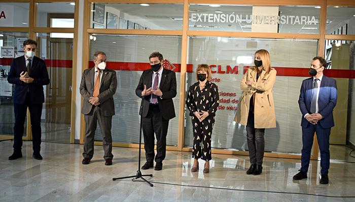 El ministro Escrivá avanza la colaboración que mantendrá con la UCLM en materia de empleabilidad de sus estudiantes