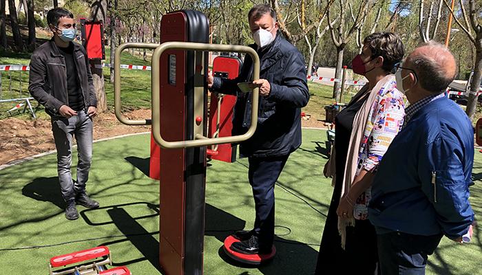 Listo para su uso el circuito biosaludable para mayores de Fuente del Oro propuesto en los Presupuestos Participativos del Ayuntamiento de Cuenca
