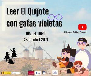 Más de 60 estudiantes de secundaria en Cuenca han querido 'Leer El Quijote con gafas violeta'
