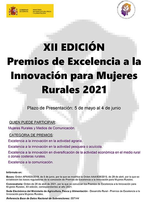 Convocada la XII edición de los Premios de Excelencia a la Innovación para Mujeres Rurales