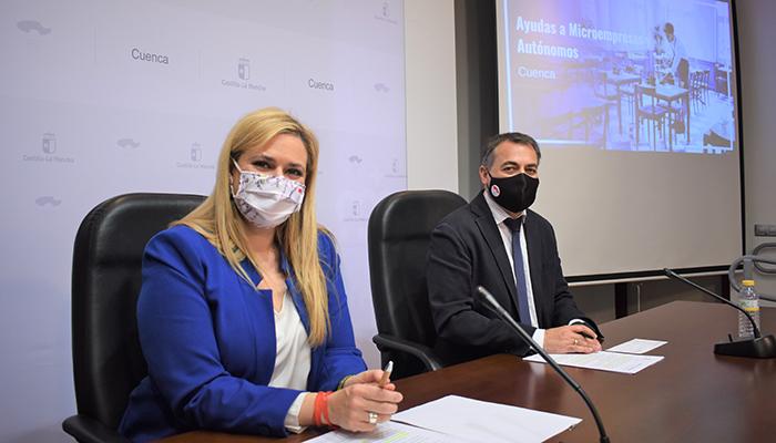El Gobierno regional concede ayudas por importe de 3,1 millones de euros a autónomos y microempresas de la provincia de Cuenca afectados por la crisis sanitaria