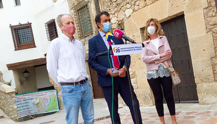 El PP acusa al alcalde y concejal de Urbanismo de ignorar y ocultar un informe que alertaba del grave riesgo de derrumbamiento de la calle Canónigos