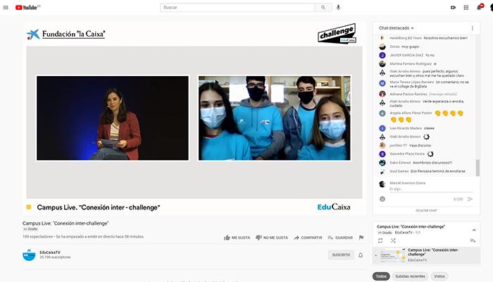 Estudiantes de Cuenca participan en el Campus Virtual de EduCaixa para desarrollar propuestas y soluciones a la nueva realidad post-pandemia