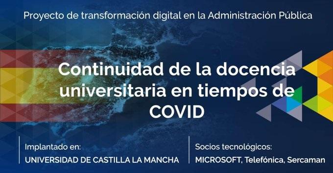 La UCLM, finalista de los premios de las empresas tecnológicas por su adaptación de la docencia durante el confinamiento