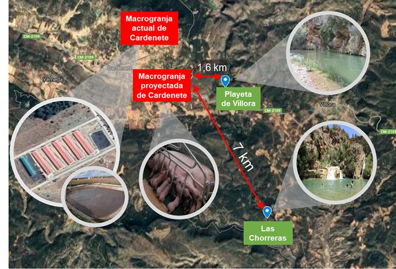 Pueblos Vivos Cuenca lanza una recogida de fondos para luchar contra la instalación de una macrogranja porcina en la Reserva de la Biosfera Valle del Cabriel
