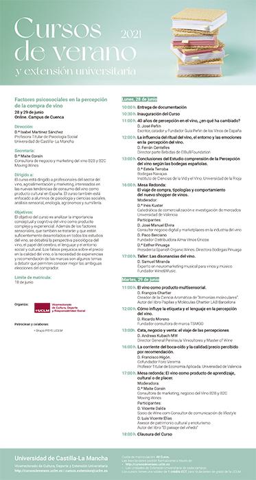 Un curso de verano en el Campus de Cuenca hablará sobre los factores psicosociales a la hora de comprar vino