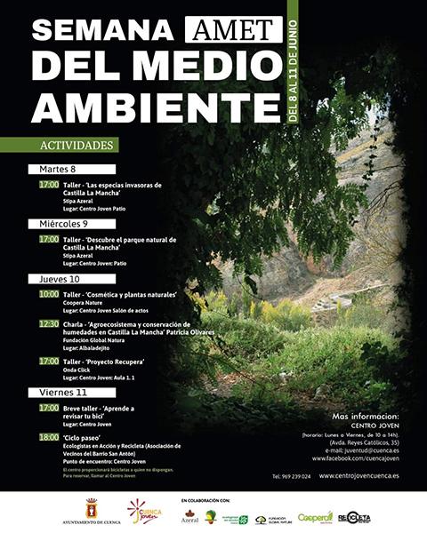 El Centro Joven de Cuenca celebra la 'AMET Semana del Medio Ambiente' en colaboración con alumnos de prácticas del 'Santiago Grisolía'