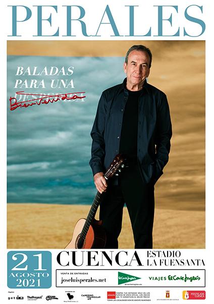 José Luis Perales actuará el 21 de agosto en el estadio de La Fuensanta