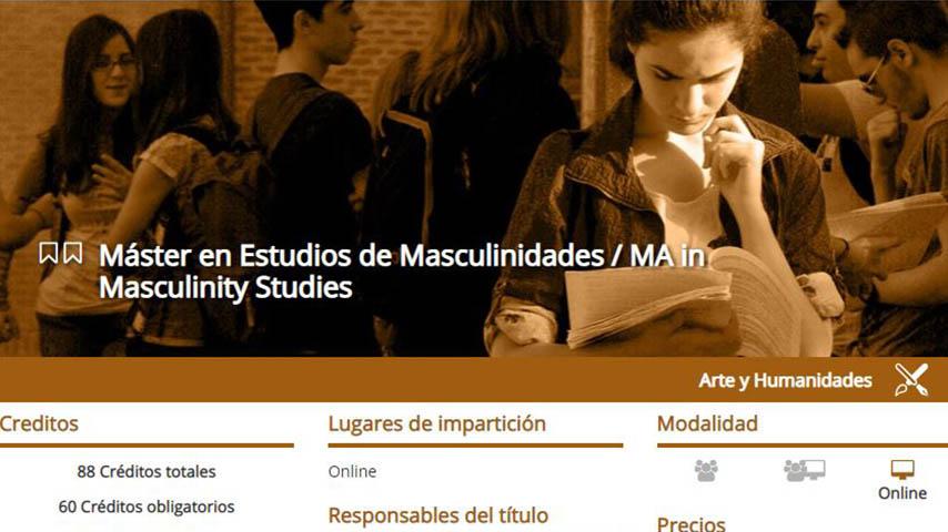 La UCLM impartirá desde octubre un pionero máster en Estudios de Masculinidades
