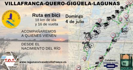 Ruta ciclista para conocer la realidad y problemas del río Gigüela