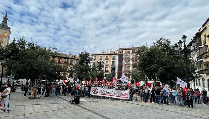 Seguimiento masivo de la huelga y multitudinaria movilización en CLM y en España contra el ERE de Caixabank