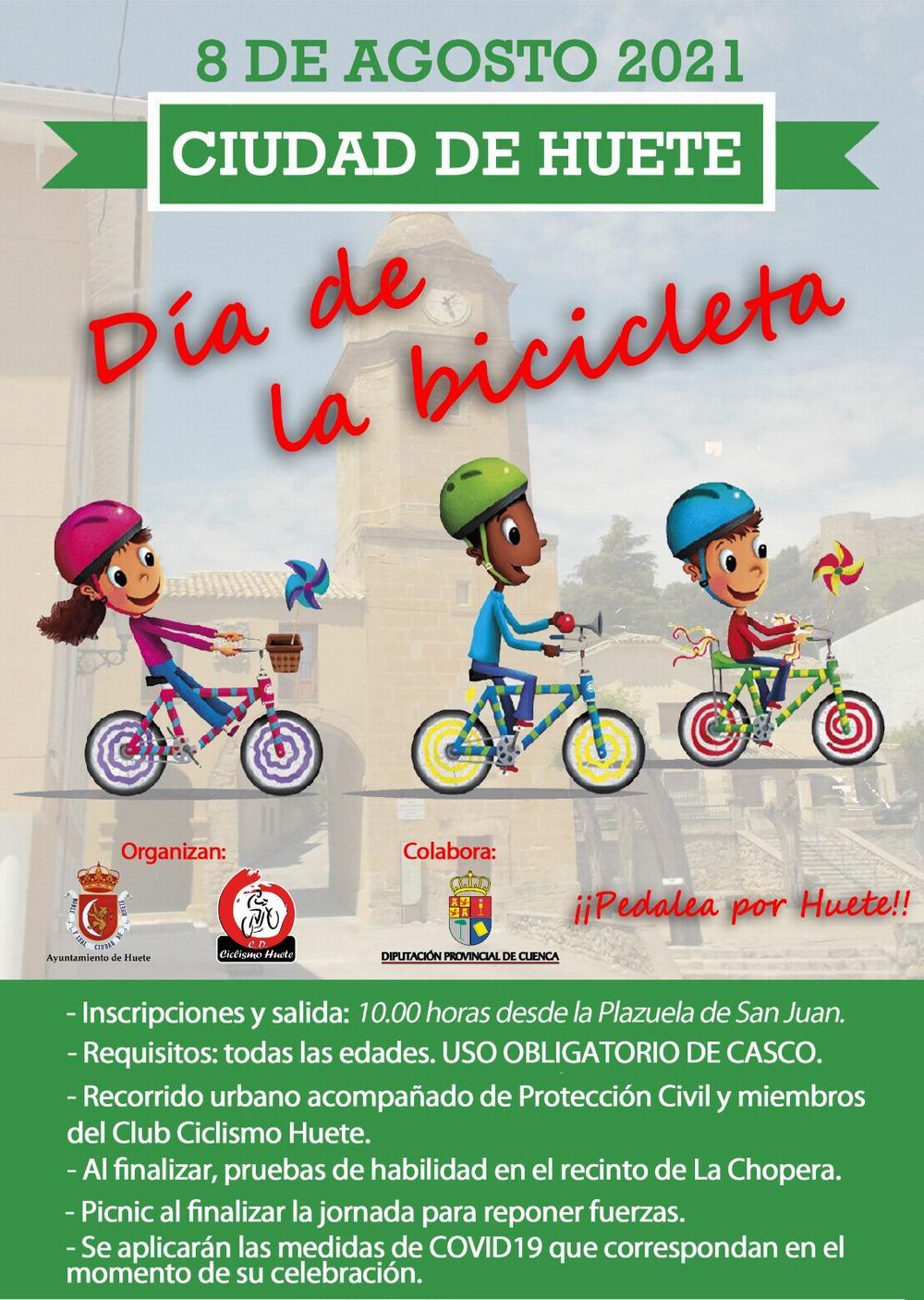 Huete celebra el Día de la Bici el 8 de agosto