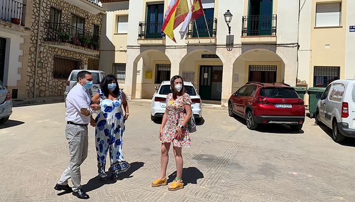 La Diputación de Cuenca y el Ayuntamiento de Huerta de la Obispalía invierten 22.000 euros en la pista de pádel