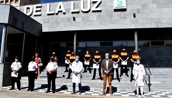 La Policía Nacional de Cuenca reconoce al personal de seguridad privada del Hospital 'Virgen de la Luz' y centros asociados por su labor durante el covid