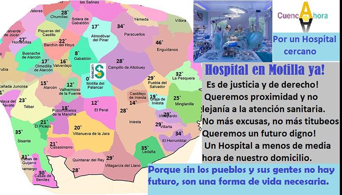 Cuenca Ahora propone la construcción de un Hospital para la comarca de la Manchuela conquense en Motilla del Palancar