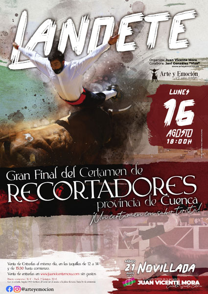 Landete celebrará el próximo lunes 16 de agosto la gran final del I Certamen de Recortadores Provincia de Cuenca