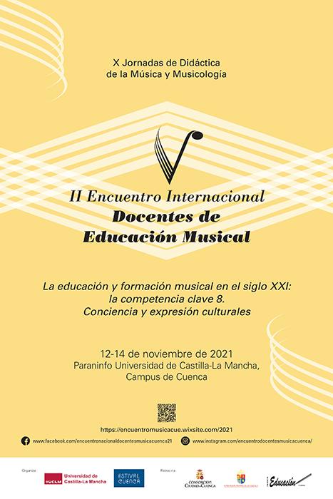 El 30 de septiembre se cierra el llamamiento a comunicaciones II Encuentro Internacional de Docentes de Música de Cuenca