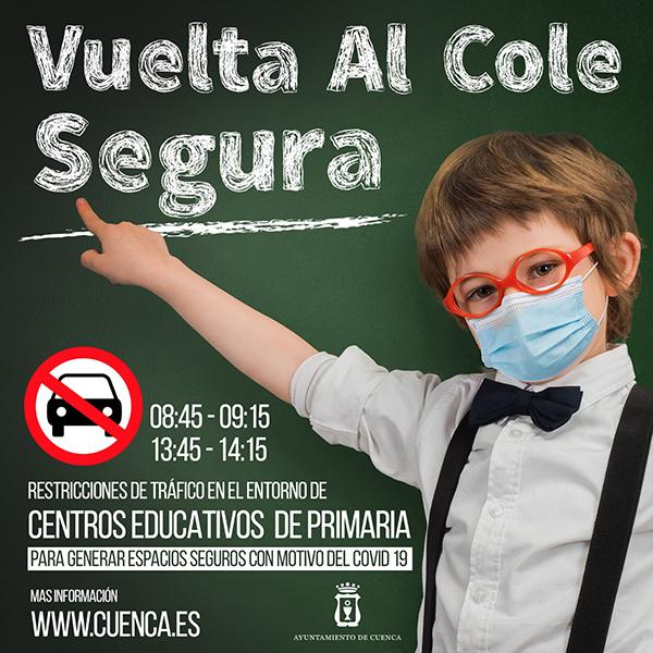 Este jueves se retoman los cortes de tráfico en el entorno de los colegios de Cuenca para generar espacios seguros
