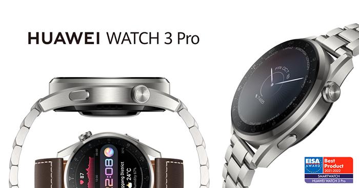 Huawei gana el premio Mejor Smartwatch 2021-2022 de EISA con el Huawei WATCH 3 Pro