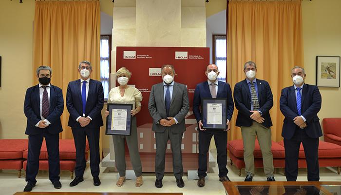 La UCLM es la primera universidad española en obtener la certificación de Seguridad y Salud frente al COVID-19 en el Trabajo de AENOR