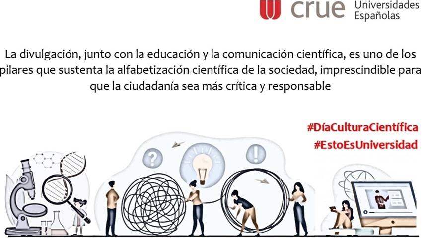 La UCLM se suma al manifiesto de Crue Universidades Españolas en el Día Internacional de la Cultura Científica