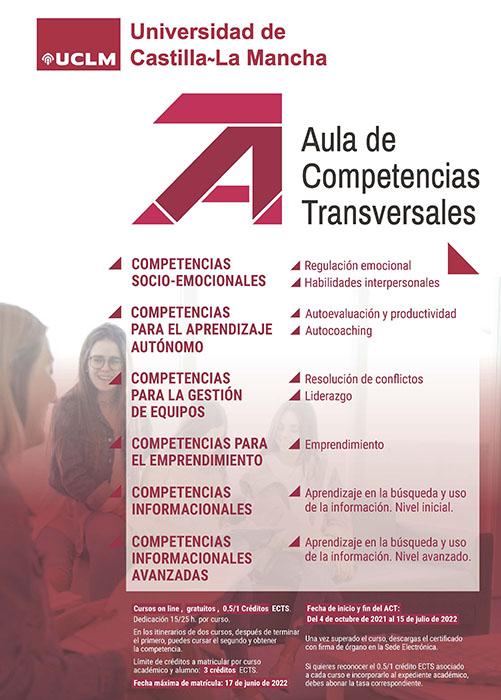 Los estudiantes de la UCLM pueden inscribirse desde el 4 de octubre en los cursos gratuitos del Aula de Competencias Transversales
