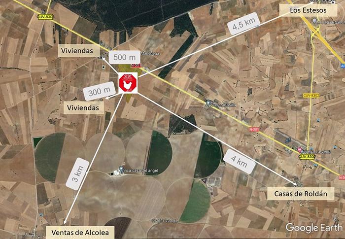 Vecinos de Cuenca y Albacete se oponen a la construcción de una macroganja de casi un millón y medio de gallinas en San Clemente