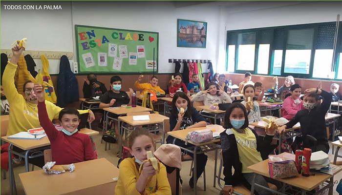 El CEIP Santa Ana de Cuenca muestra su apoyo a «La Palma» con un audiovisual