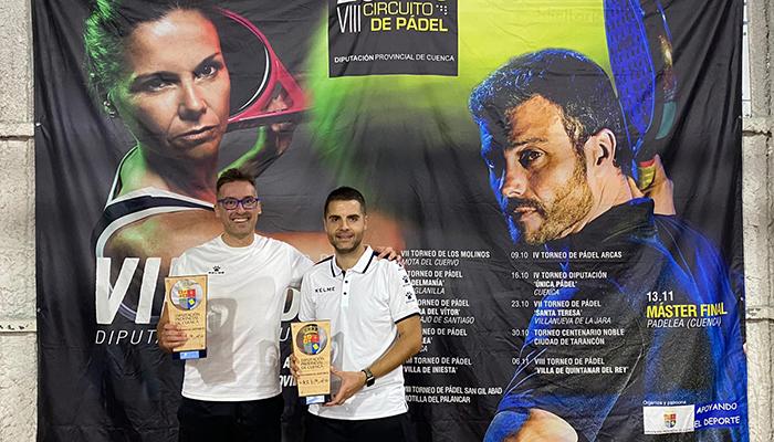 Noheda y Bermejo y Pérez-Moneo y Blanco ganan el torneo de pádel San Gil Abad en Motilla