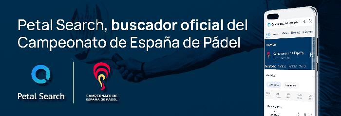 Petal Search se convierte en el buscador oficial del próximo Campeonato de España de Pádel